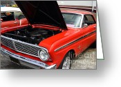 Ford Engine Greeting Cards - Ford Falcon 7d15146 Greeting Card by Wingsdomain Art and Photography