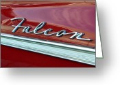 Antique Automobile Greeting Cards - Ford Falcon Greeting Card by David Lee Thompson