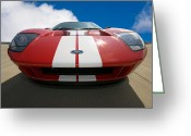Red Car Greeting Cards - Ford GT Greeting Card by Peter Tellone