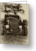 Model A Greeting Cards - Ford Model A Greeting Card by Bill Cannon
