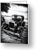 Film Noir Greeting Cards - Ford Model T Film Noir Greeting Card by Bill Cannon