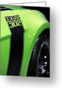 Drag Greeting Cards - Ford Mustang - BOSS 302 Greeting Card by Gordon Dean II