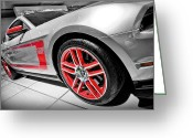Auto Show Greeting Cards - Ford Mustang Boss 302 Greeting Card by Gordon Dean II