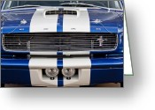 Muscle Car Photo Greeting Cards - Ford Mustang Grille Emblem Greeting Card by Jill Reger