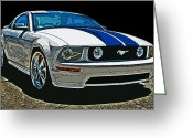 Carroll Shelby Photo Greeting Cards - Ford Mustang GT Greeting Card by Samuel Sheats