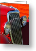 Ford Roadster Greeting Cards - Ford Roadster Grille Greeting Card by Jill Reger