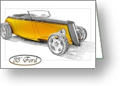 Ford Roadster Greeting Cards - Ford Roadster Greeting Card by Michael Gass