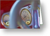 Gold Ford Greeting Cards - Ford Speedometer Greeting Card by Jill Reger