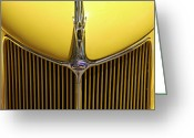Ford Street Rod Greeting Cards - Ford V8 Greeting Card by Mike McGlothlen