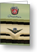Ford V8 Greeting Cards - Ford V8 Pickup Emblem Greeting Card by Jill Reger