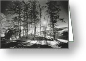 Silver Gelatin Greeting Cards - Forelacka Burial Ground Greeting Card by Simon Marsden