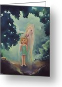 Storybook Greeting Cards - Forest Greeting Card by Mary Johnson