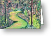 Mcnamee Greeting Cards - Forest Path Greeting Card by James McNamee