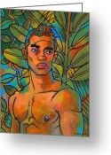 Hawaiian Greeting Cards - Forest Spirit 2 Greeting Card by Douglas Simonson