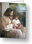 Brown Hair Greeting Cards - Forever and Ever Greeting Card by Greg Olsen