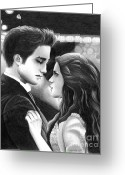 Kristen Stewart Greeting Cards - Forever Greeting Card by Crystal Rosene