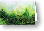 Artist Studio Greeting Cards - Forever Ferns Greeting Card by Hanne Lore Koehler
