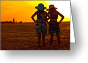 Wheatfields Photo Greeting Cards - Forever Friends Greeting Card by Ronda Langley