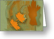 Graphics Greeting Cards - Forever Leaves Greeting Card by Ben and Raisa Gertsberg