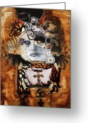 Nude Mixed Media Greeting Cards - Forever Greeting Card by Michel  Keck