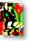 Garter Belts Greeting Cards - Forever Pinup I Greeting Card by Chris Andruskiewicz