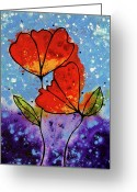 Floral Print Greeting Cards - Forever Yours Greeting Card by Sharon Cummings