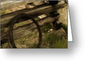 Split-rail Fence Greeting Cards - Forgotten Greeting Card by Bonnie Bruno