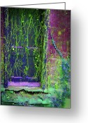 Forgotten Greeting Cards - Forgotten doorway Greeting Card by Tony Grider