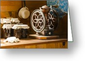 Oldfashioned Greeting Cards - Forgotten Kitchen of Yesteryear Greeting Card by Carolyn Marshall