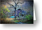 Shed Digital Art Greeting Cards - Forgotten Lot Greeting Card by Dan Stone