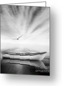 White Digital Art Greeting Cards - Forgotten Greeting Card by Photodream Art