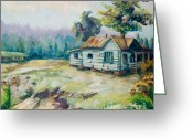 Abandoned House Painting Greeting Cards - Forgotten Places II Greeting Card by Elisabeta Hermann