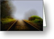 Train Track Greeting Cards - Forgotten Railway Track Greeting Card by Svetlana Sewell