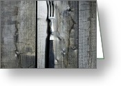Pointed Greeting Cards - Fork Greeting Card by Joana Kruse
