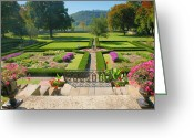 Indiana Autumn Photo Greeting Cards - Formal Garden I Greeting Card by Steven Ainsworth