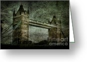 Grey Blue Greeting Cards - Former Sanctions Greeting Card by Andrew Paranavitana