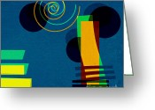 Spiral Greeting Cards - Formes - 03b Greeting Card by Variance Collections