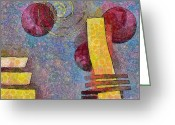 Rectangles Greeting Cards - Formes - 08a Greeting Card by Variance Collections
