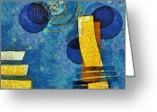 Rectangle Greeting Cards - Formes - 09g Greeting Card by Variance Collections