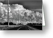 Oklahoma Landscape Greeting Cards - Forms of Energy Greeting Card by Karen M Scovill