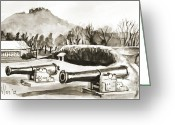 Pilot Knob Greeting Cards - Fort Davidson Cannon III Greeting Card by Kip DeVore