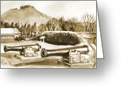 Pilot Knob Greeting Cards - Fort Davidson Cannon IV Greeting Card by Kip DeVore
