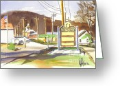 Pilot Knob Greeting Cards - Fort Davidson Memorial Site Pilot Knob Missouri Greeting Card by Kip DeVore