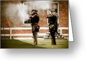 Cannonball Greeting Cards - Fort Delaware Military Greeting Card by Trish Tritz