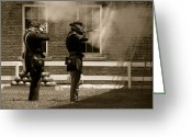 Cannonball Greeting Cards - Fort Delaware Soldiers Greeting Card by Trish Tritz