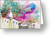Portugal Art Greeting Cards - Fort in Valenca Portugal 01 Greeting Card by Miki De Goodaboom