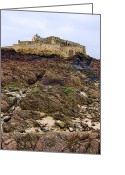 Escarpment Greeting Cards - Fort National in Saint Malo Brittany Greeting Card by Olivier Le Queinec