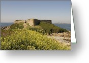 Querformat Greeting Cards - Fort Pezeries - Plainmont - Isle of Guernsey. Greeting Card by Urft Valley Art