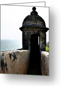 Sun Prints Greeting Cards - Fort San Juan Lookout Greeting Card by Gilbert Artiaga