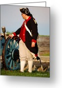 Diane Berry Digital Art Greeting Cards - Fort Stanwix Patriot Greeting Card by Diane E Berry